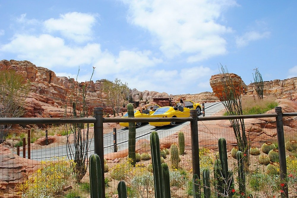 Radiator springs starts out mellow and turns into a speedy race ~ 17 Scariest Rides at Disneyland