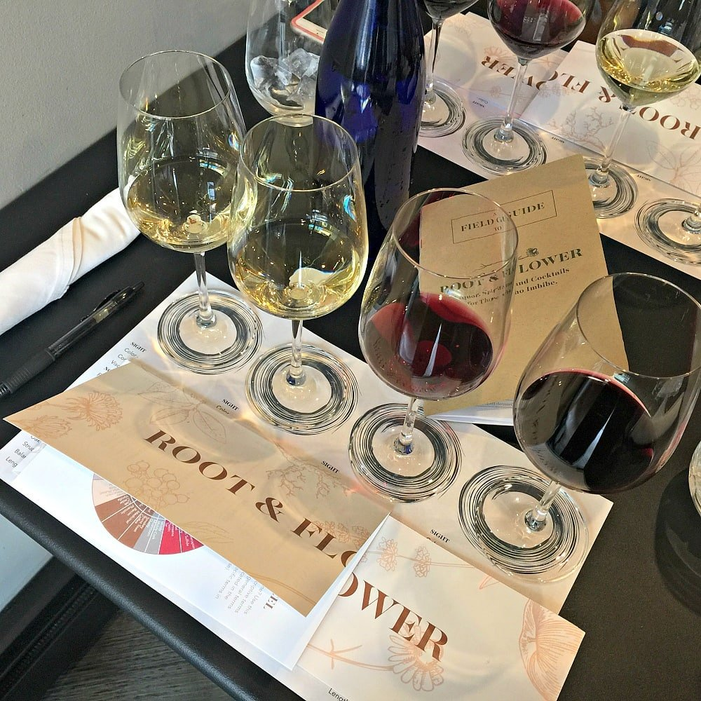 Art of Tasting class at Root and Flower in Vail in summer