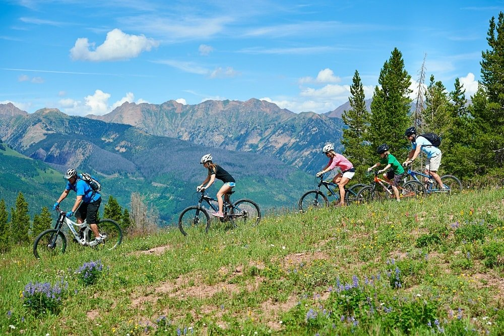 Explore Vail by bicycle in summertime
