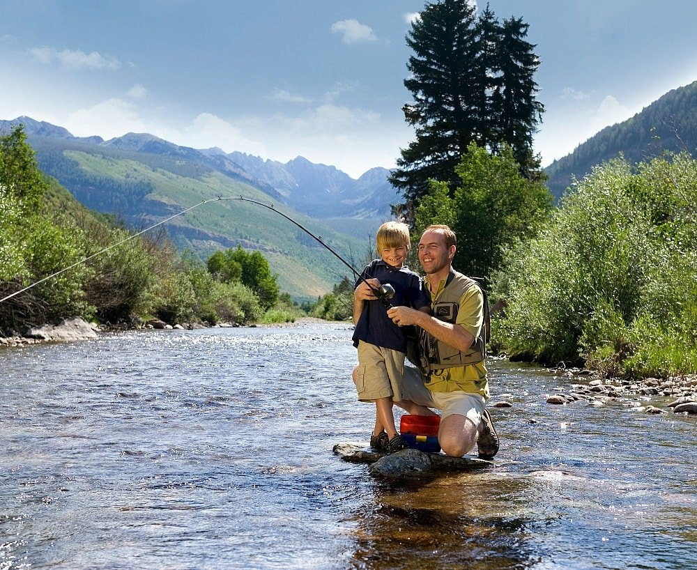 Even kids can try fly fishing in Vail in summer