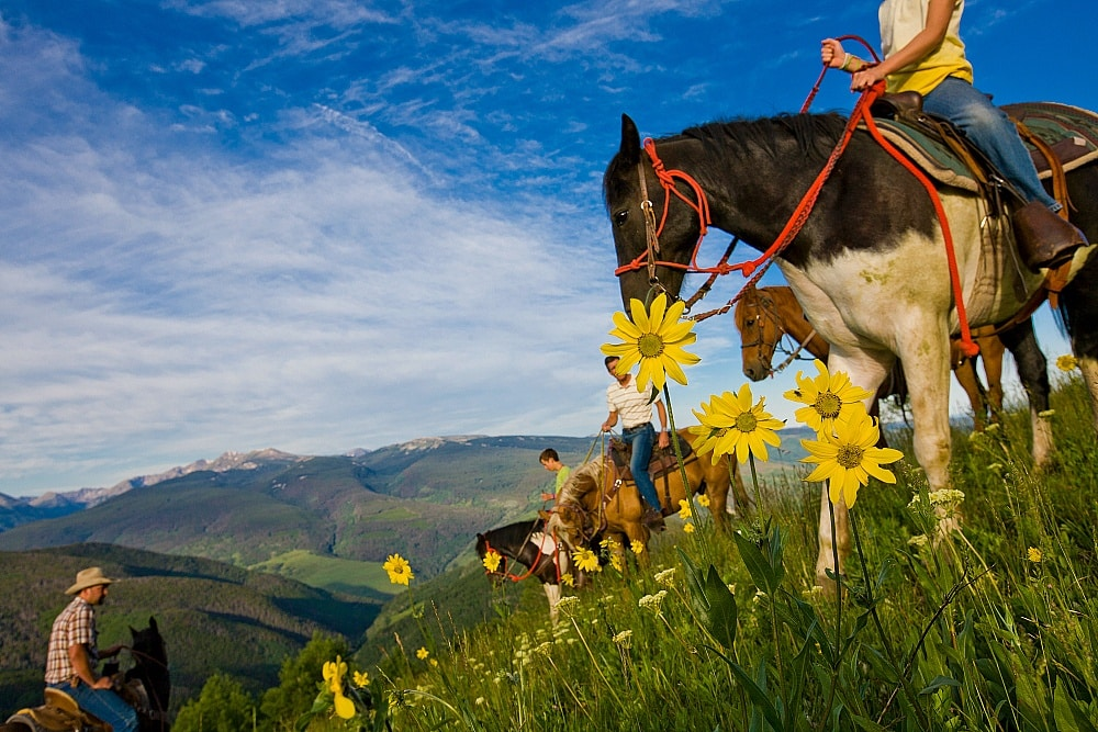 Vail in summer is especially beautiful when viewed from the saddle of a horse