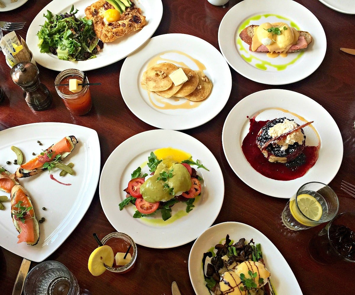 An array of delicious breakfast dishes at Vintage ~ Things to Do in Vail in Summer