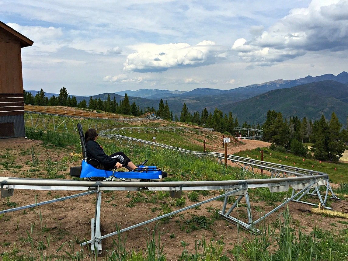 Forest Flyer alpine coaster ~ Vail in Summer
