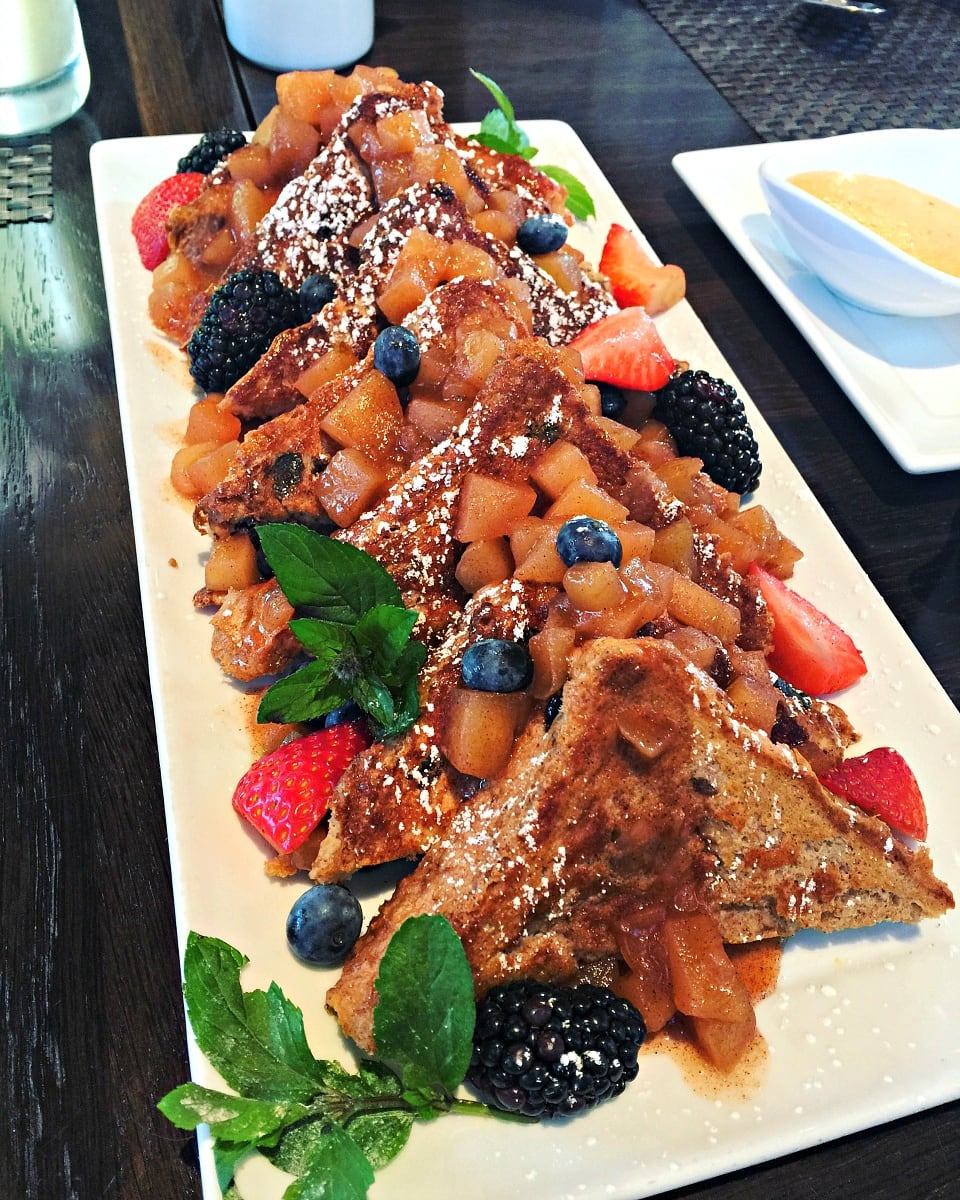 French Toast with mascarpone cheese and fresh berries at The Sebastian