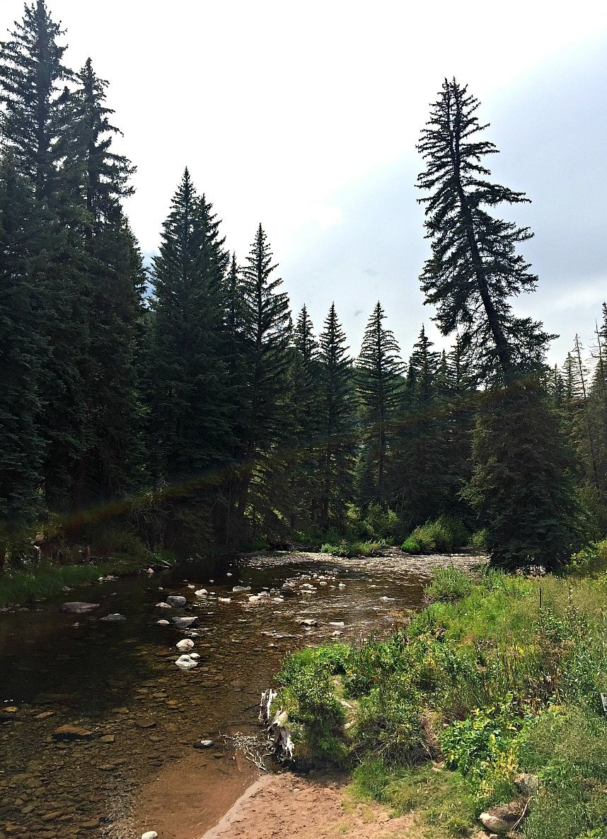 Gore Creek in Vail in summer