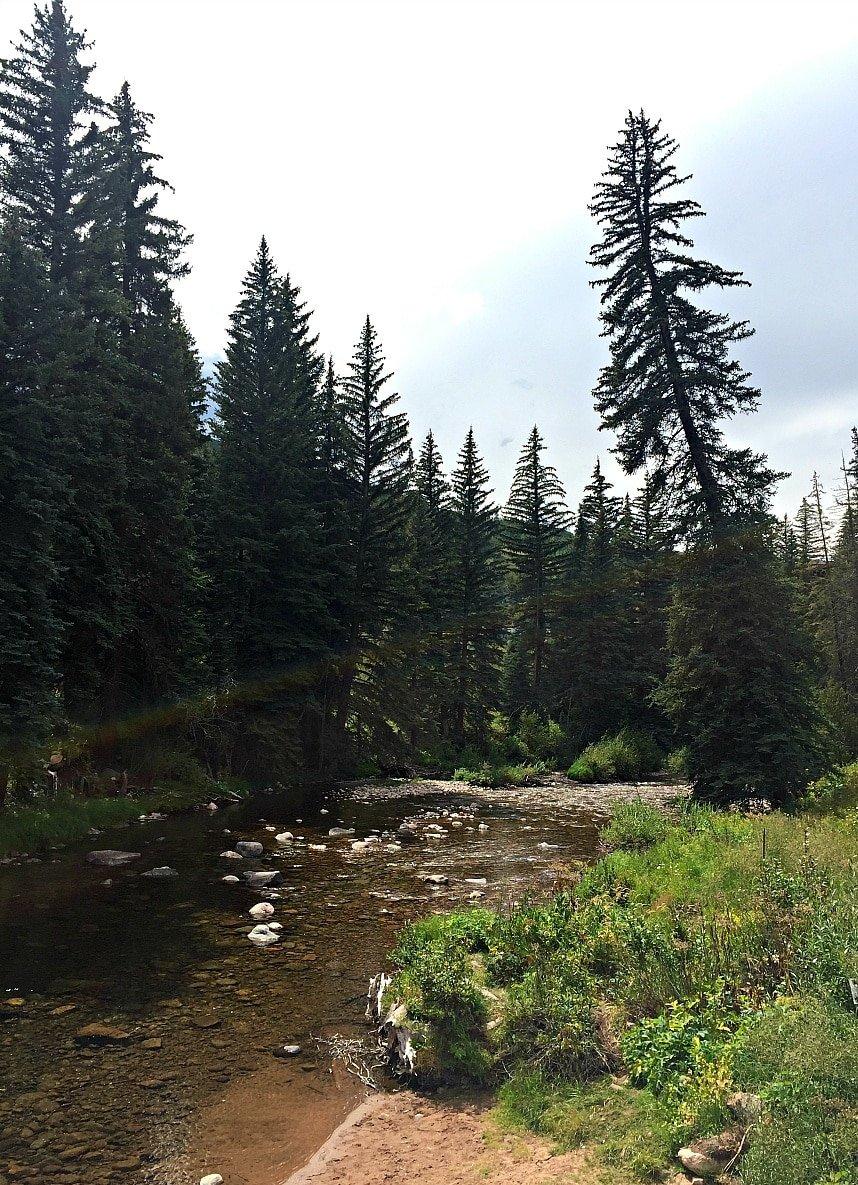 Gore Creek in Vail in summer