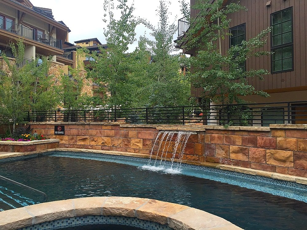 The Sebastian's outdoor pool in Vail in summer
