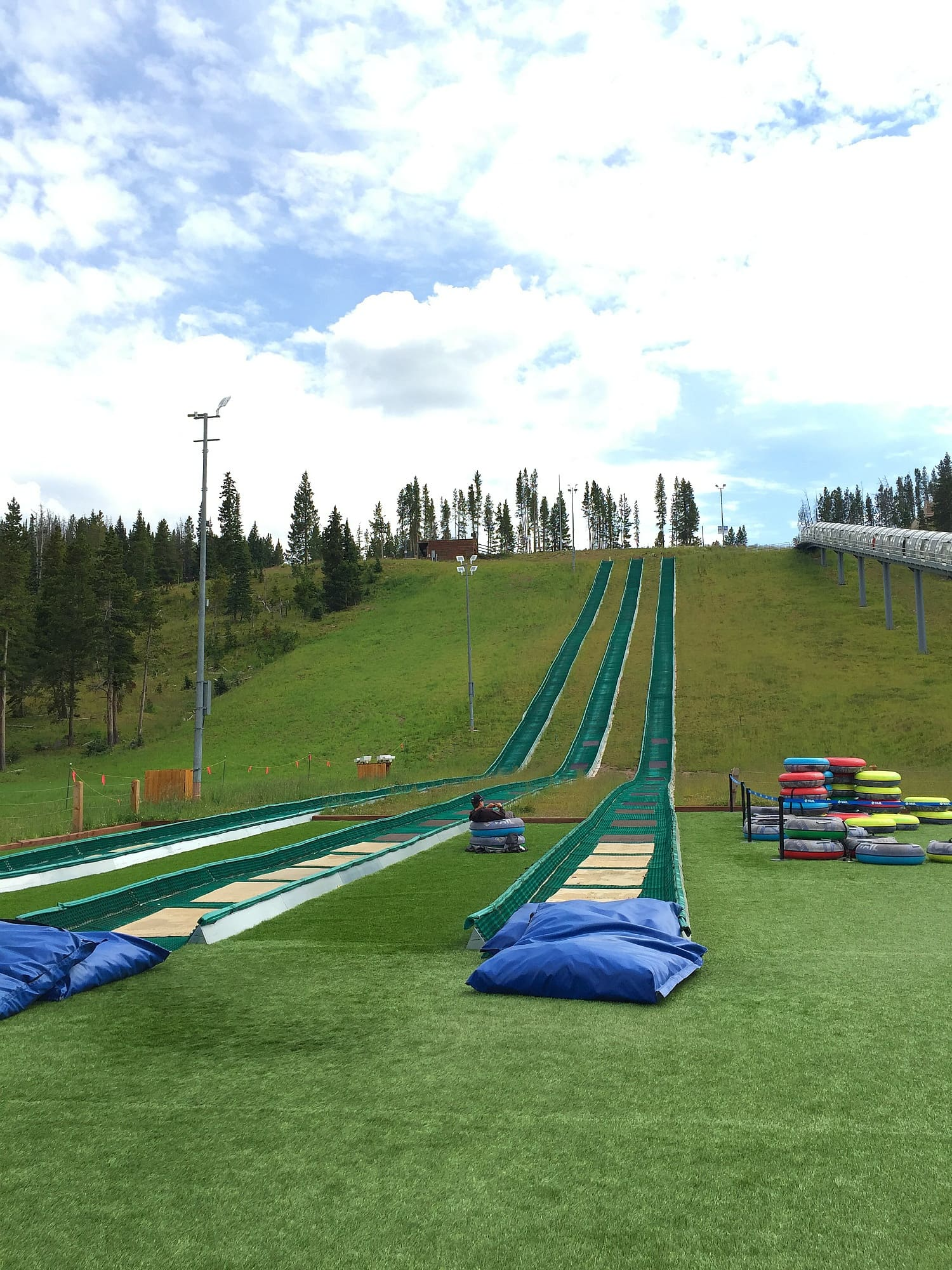 Go tubing in Vail in summer at Epic Discovery