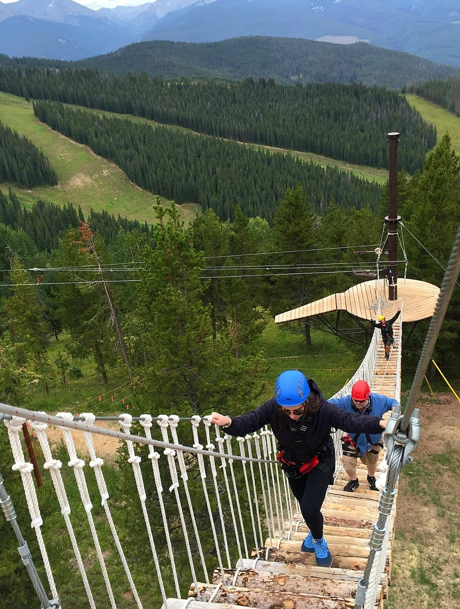 Game Creek Aerial Adventure aerial bridge ~ 14 Things to Do in Vail in Summer
