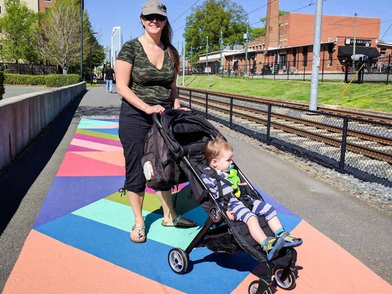 Exploring the Rail Trail in Charlotte with our Baby Jogger City Tour Stroller