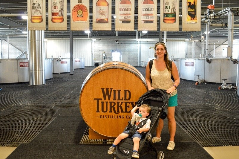Touring the Wild Turkey Distillery with our Baby Jogger City Tour Stroller