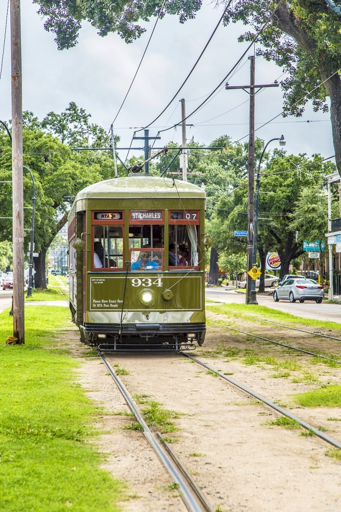 The famous St. Charles Street Car in New Orleans ~ New Orleans on a Budget with Kids