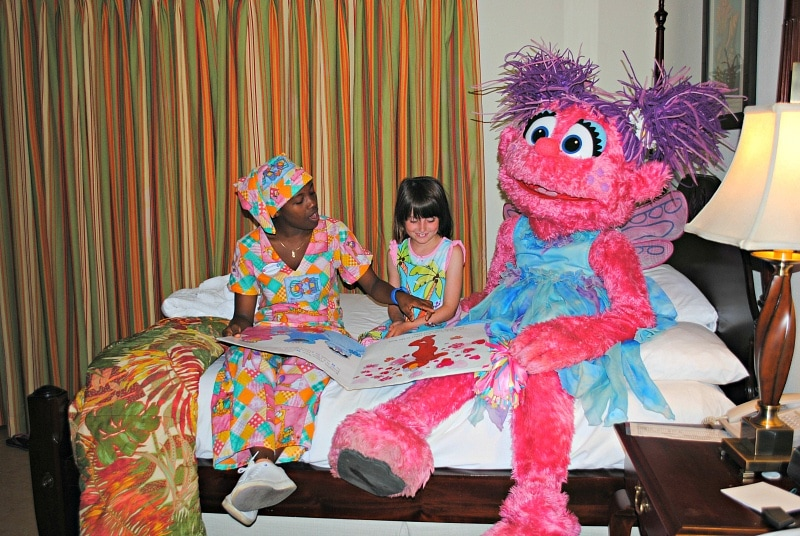 A bedtime character story and tuck-in with Abby Caddabby at Beaches Negril