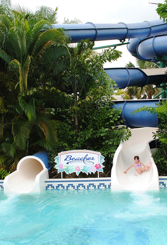 Waterslides at Beaches Negril
