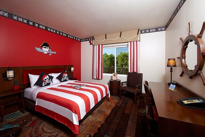 Pirate-themed room at the LEGOLAND Hotel ~ Legoland California Tips for All Ages from Babies to Adults