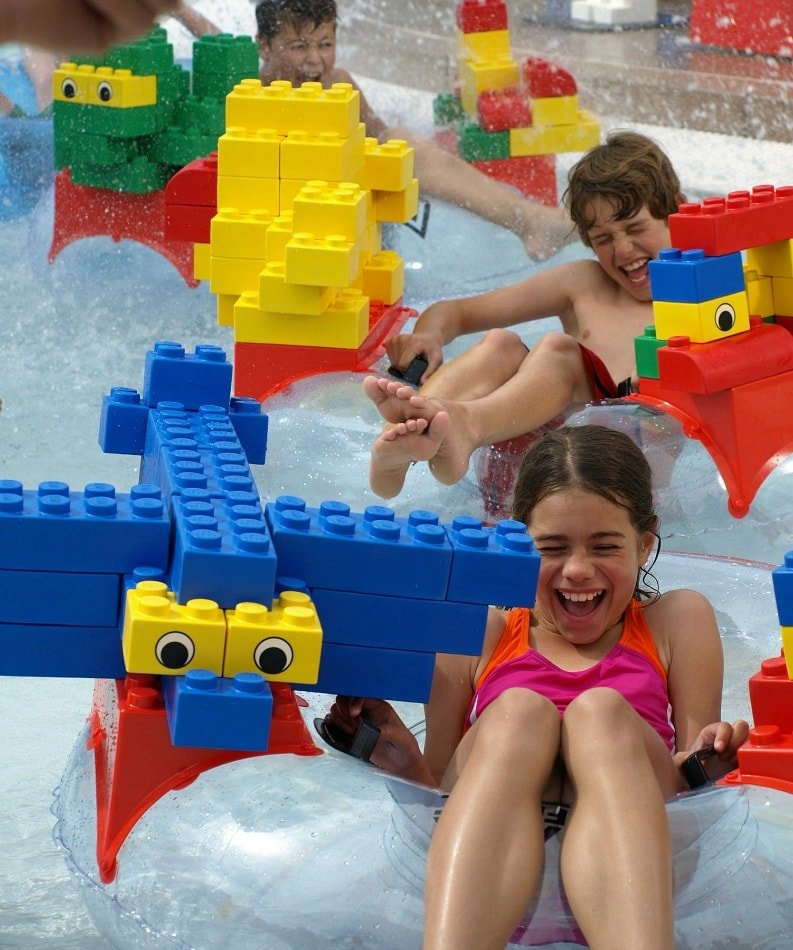 LEGOLAND Water Park's Build-A-Raft River ~ Legoland California Tips for All Ages from Babies to Adults