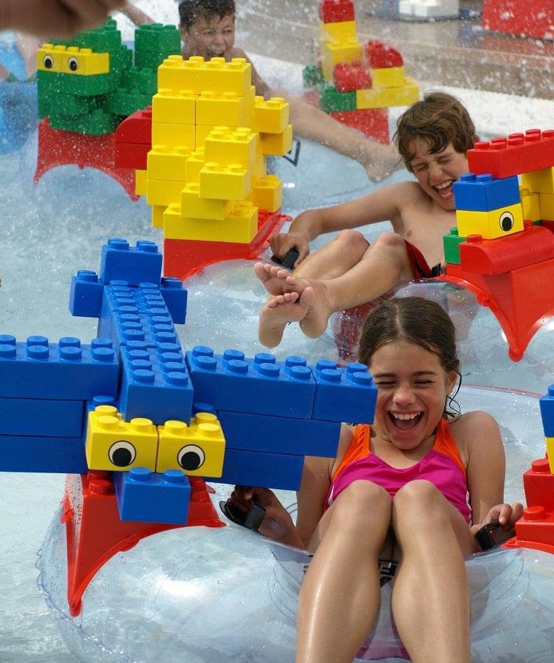 LEGOLAND Water Park's Build-A-Raft River ~ Legoland Water Park Tips