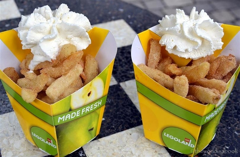 Granny's Apple Fries are a must during any visit to LEGOLAND California ~ LEGOLAND California Tips for All Ages from Babies to Adults