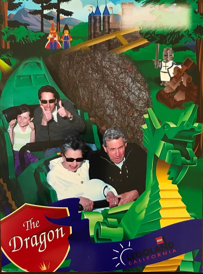 The Dragon is mellow enough for first time coaster riders ~ Legoland California Tips for All Ages from Babies to Adults