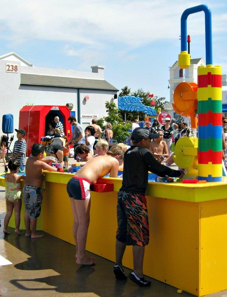 Kids hard at play at the Imagination Station ~ Legoland Water Park Tips