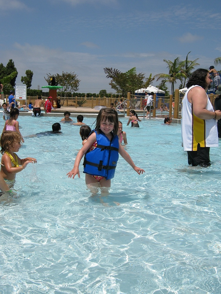 Life vests of all sizes are available at LEGOLAND Water Park ~ Legoland Water Park Tips