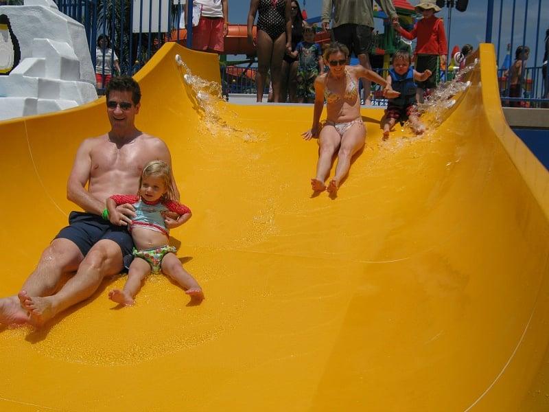 Duplo Splash Safari slides for little kids at Legoland Safari ~ Legoland Water Park Tips