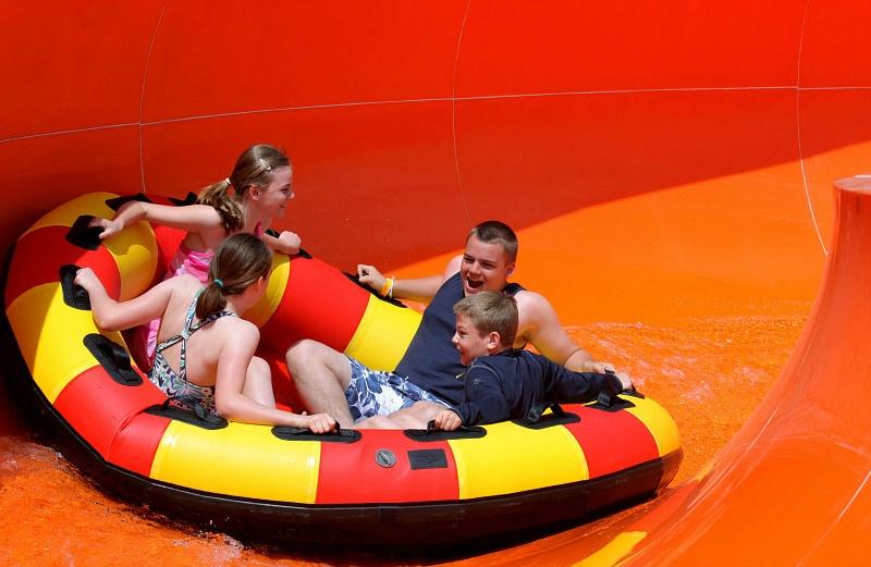 A favorite LEGOLAND waterslide, Orange Rush ~ Legoland Water Park Tips