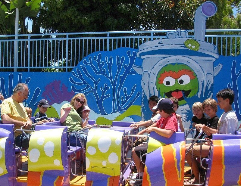 Oscar's Rockin' Eel is one of three rides for little kids at the Sesame Street Bay of Play ~ 12 Tips for SeaWorld San Diego with Kids