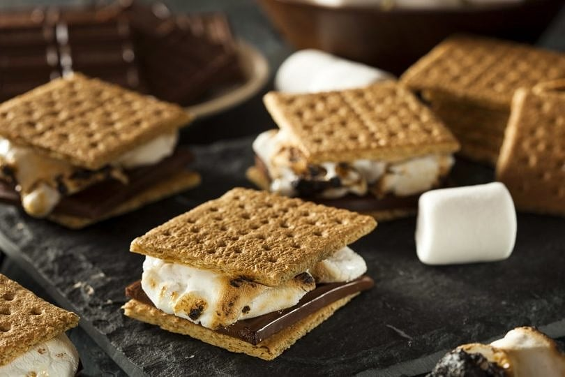 S'mores make a fun and tasty way to top off a backyard barbecue party