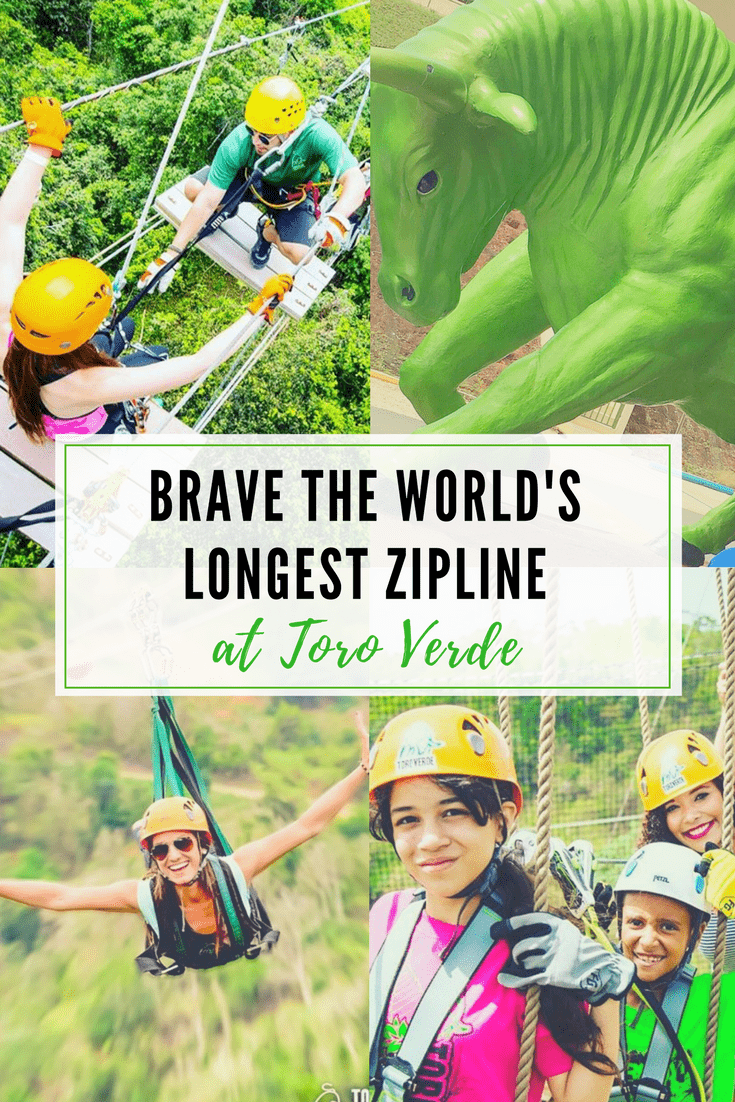 Brave the world's longest zipline at Toro Verde Ecological Adventure Park in Puerto Rico