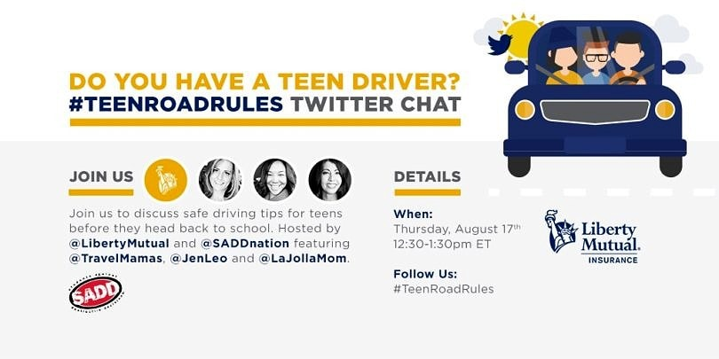 Safe teen driving twitter chat with Liberty Mutual