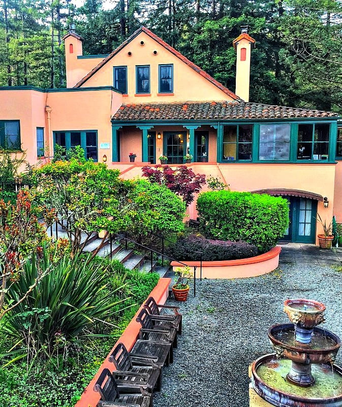 The lovely Applewood Inn along with Wine Road in Sonoma County