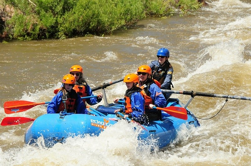 White water rafting in Canon City with kids