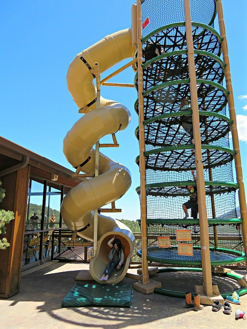 The giant adventure slide at Caves of the Wind Mountain Park ~ 9 Amazing Adventures in Canon City and Colorado Springs for Families