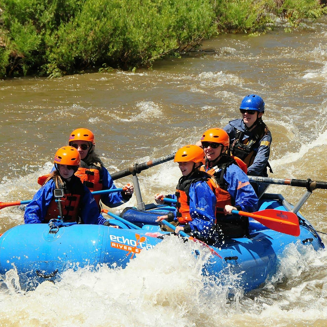 Rafting down the Arkansas River in Canon City, Colorado