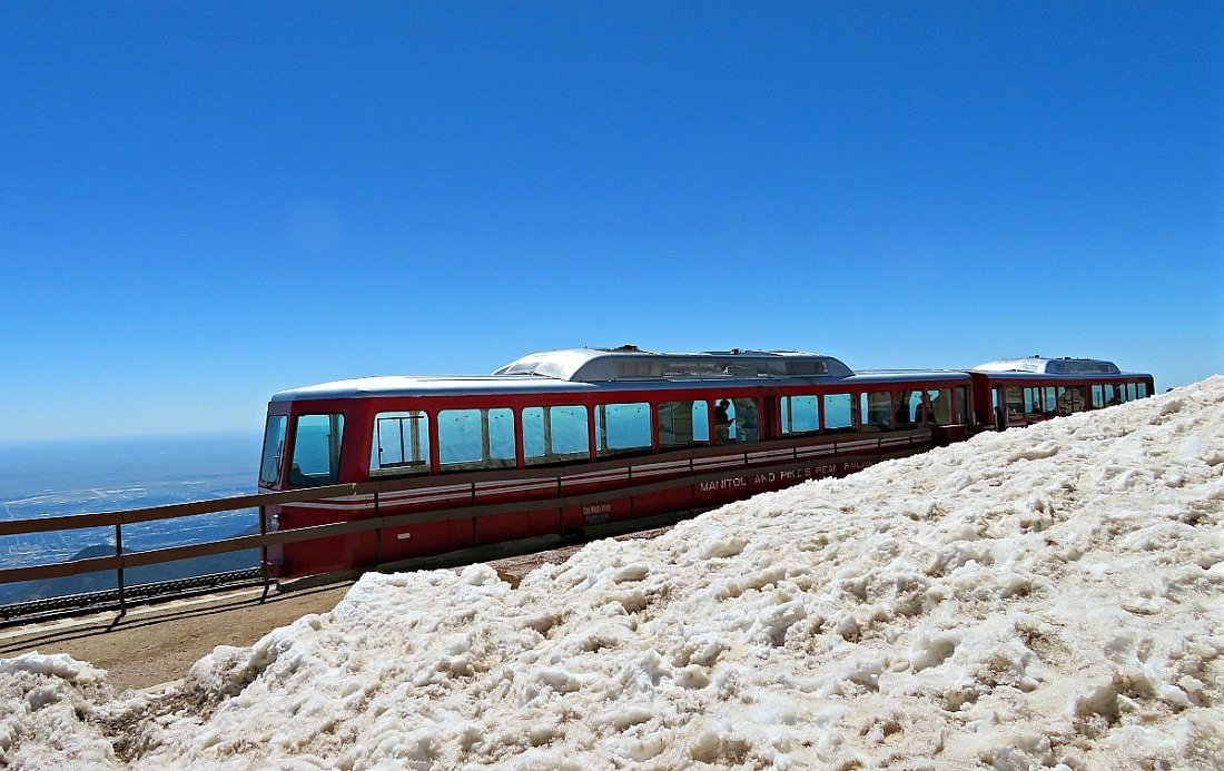Train at the top of Pikes Peak ~ 9 Amazing Adventures in Canon City and Colorado Springs for Families