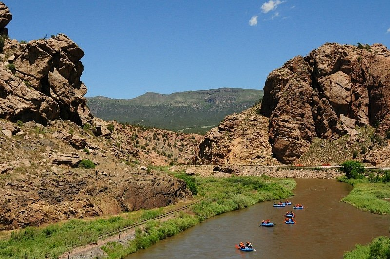 View of the Arkansas River from above ~ 9 Amazing Adventures in Canon City and Colorado Springs for Families