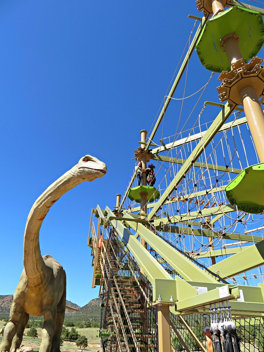 Royal Gorge Dinosaur Experience ropes course ~ 9 Amazing Adventures in Canon City and Colorado Springs for Families