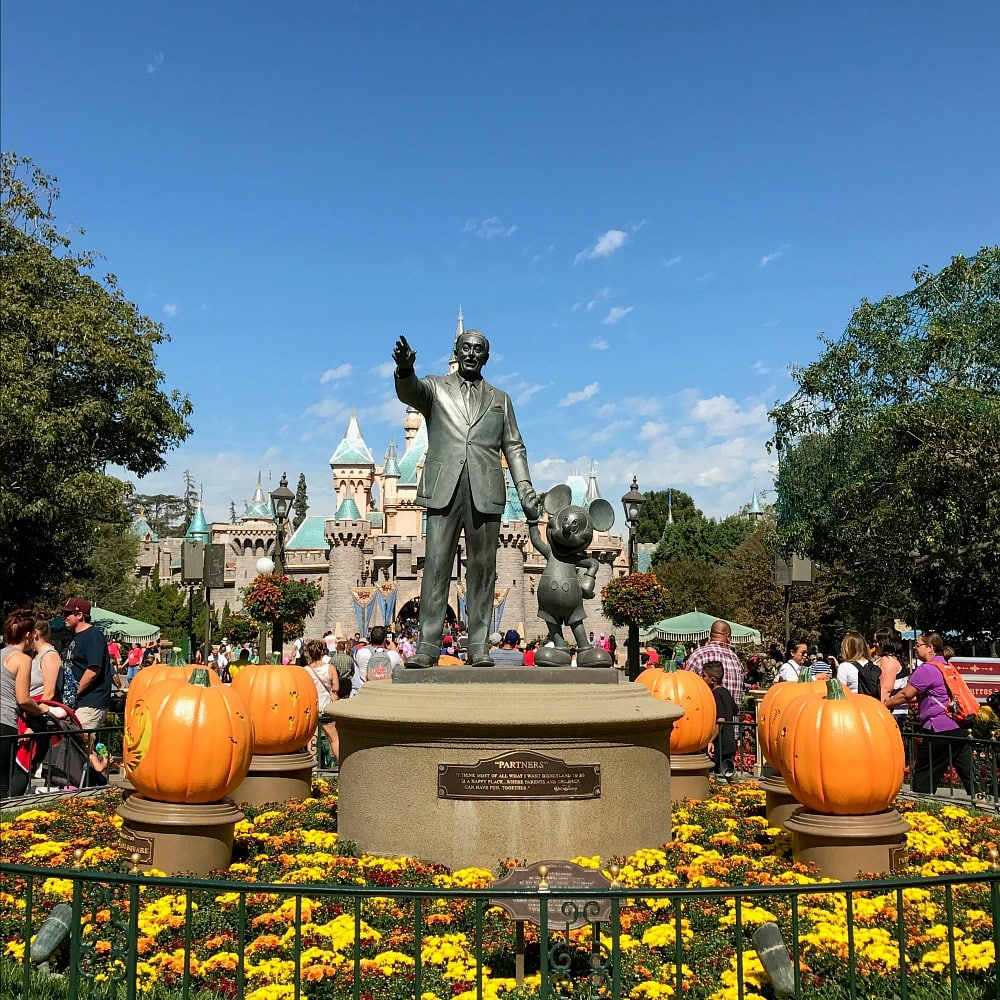 Halloween decorations at Disneyland in fall