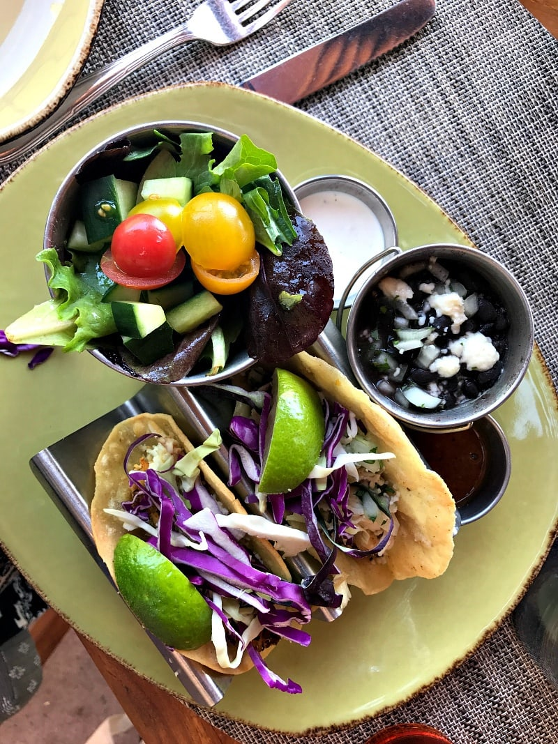 Fish tacos at Saguaro Blossom ~ Four Seasons Scottsdale with Kids