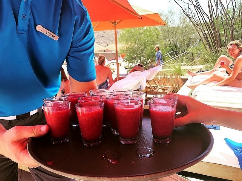 Free smoothie, anyone? at Four Season Scottsdale with Kids