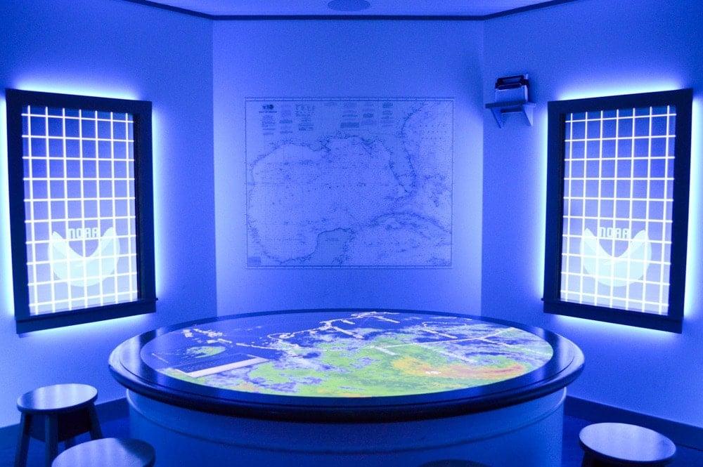 Interactive weather exhibit at GulfQuest (Photo credit: Bryan Richards)