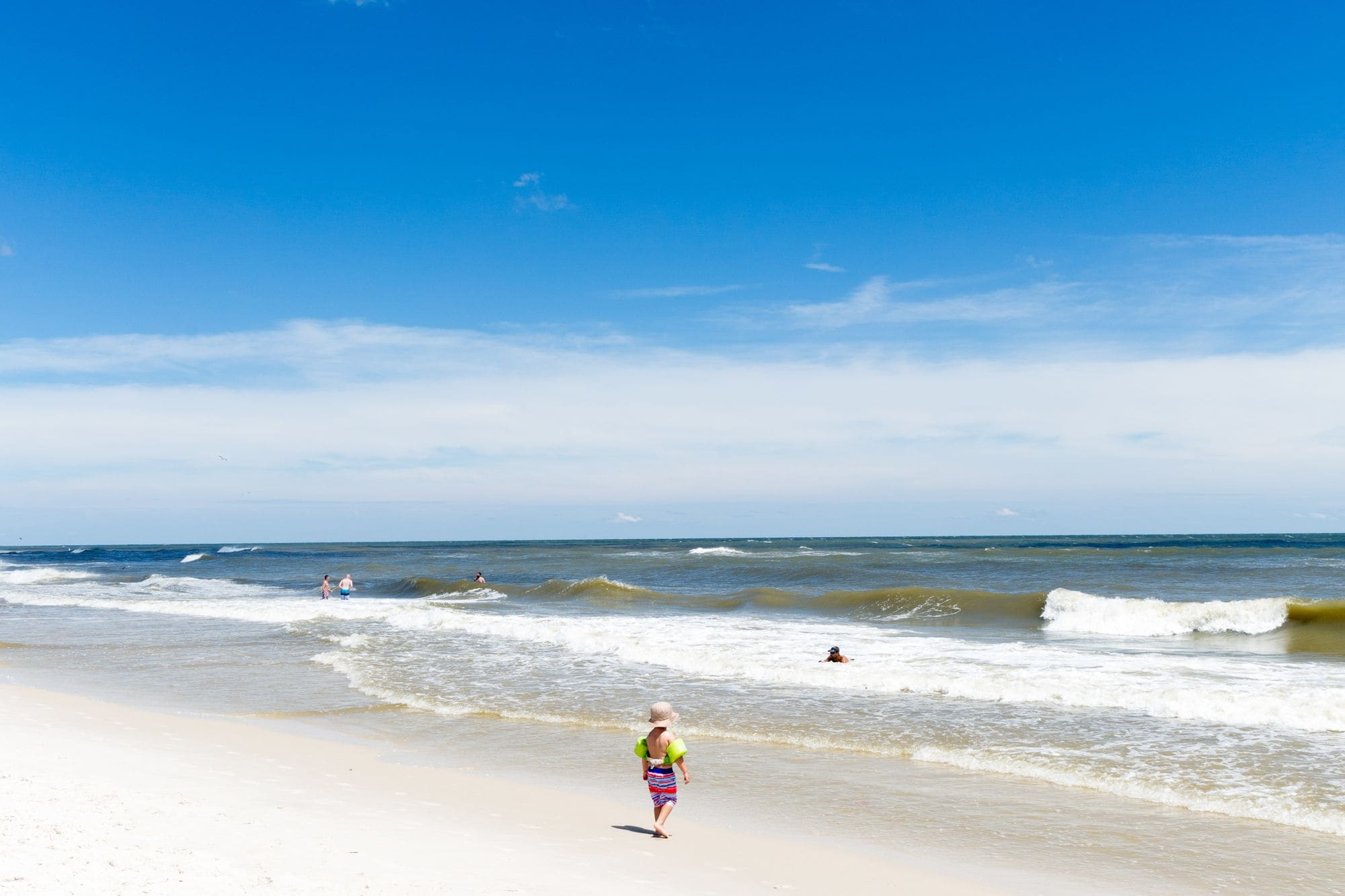 Mild waves are great for little kids in South Alabama with kids