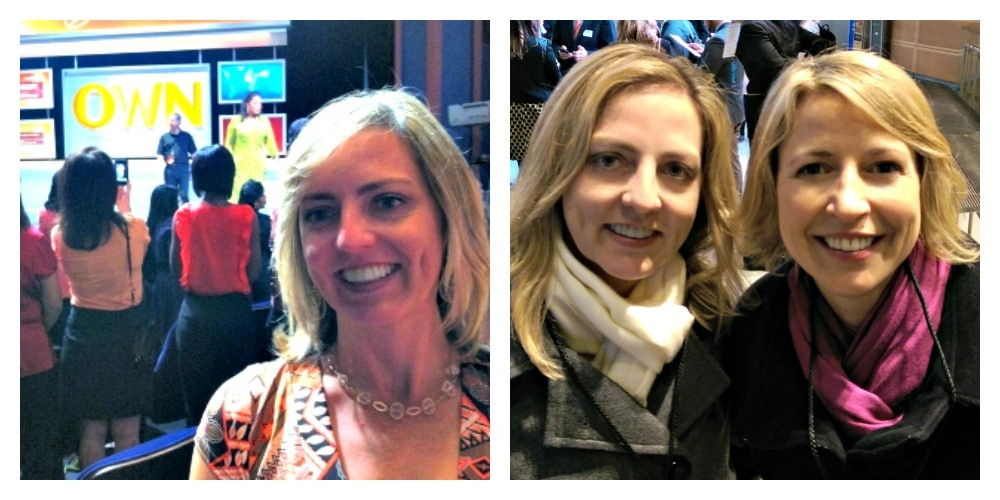 Me with two bucket list celebrities, Oprah and Samantha Brown