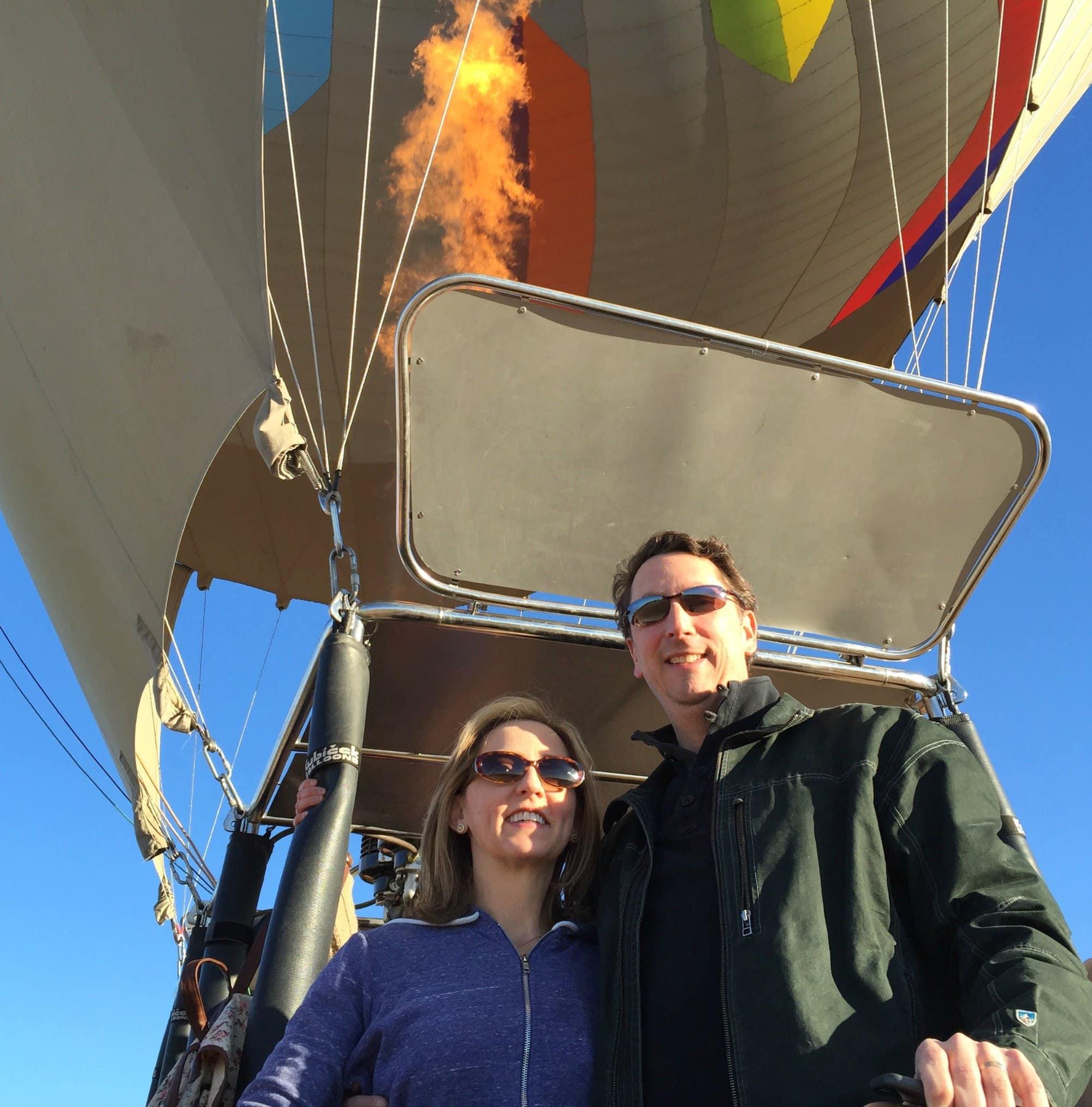 A hot air balloon bucket list flight with my husband