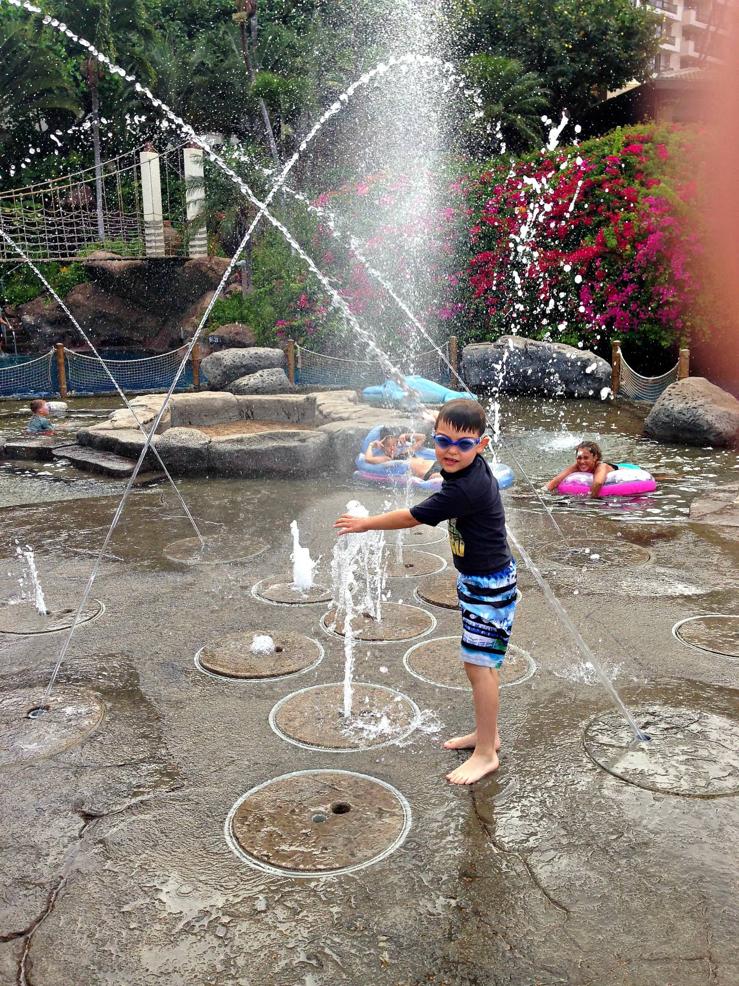 Hyatt Regency Maui with kids Keiki fountains