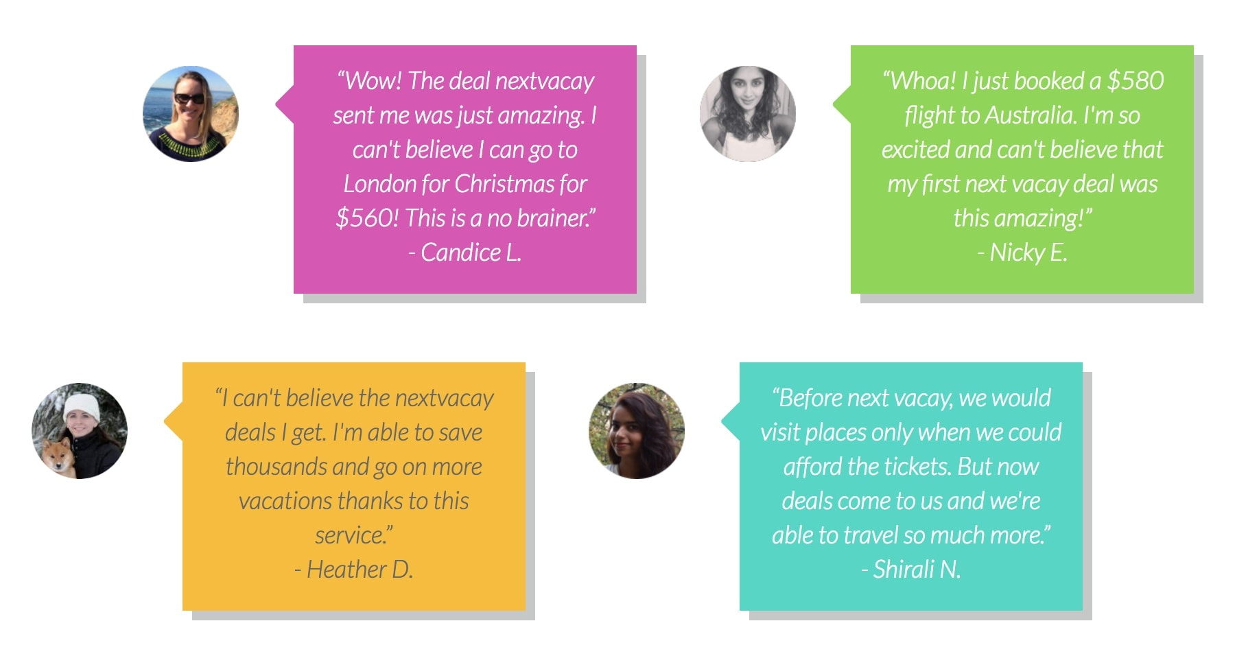 Next Vacay users are thrilled with their travel hacking results