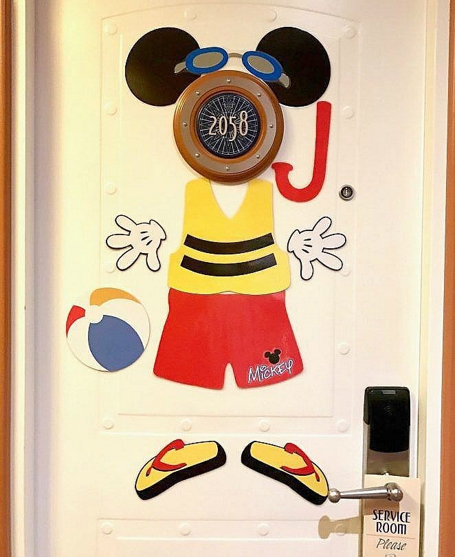 Decorated stateroom doors are a fun way to find your stateroom ~ 7 Lucky Things to Pack for a Disney Cruise
