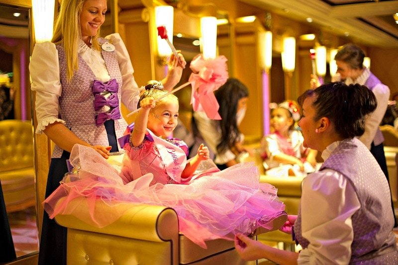 Young princesses will love a visit to the Bibbidi Bobbidi Boutique ~ What to pack for a disney cruise