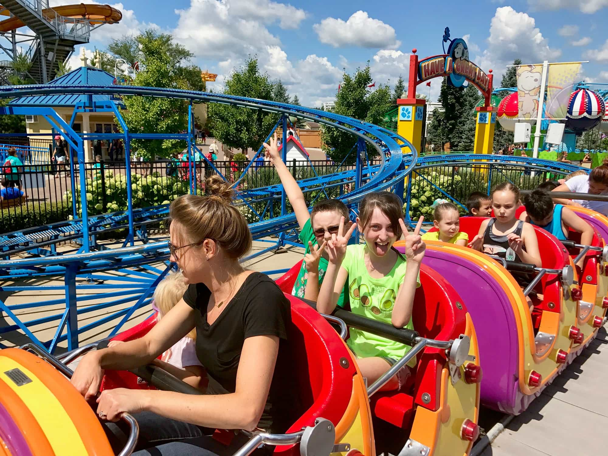 Cosmic Coaster in Planet Snoopy at Valleyfair in Minnesota